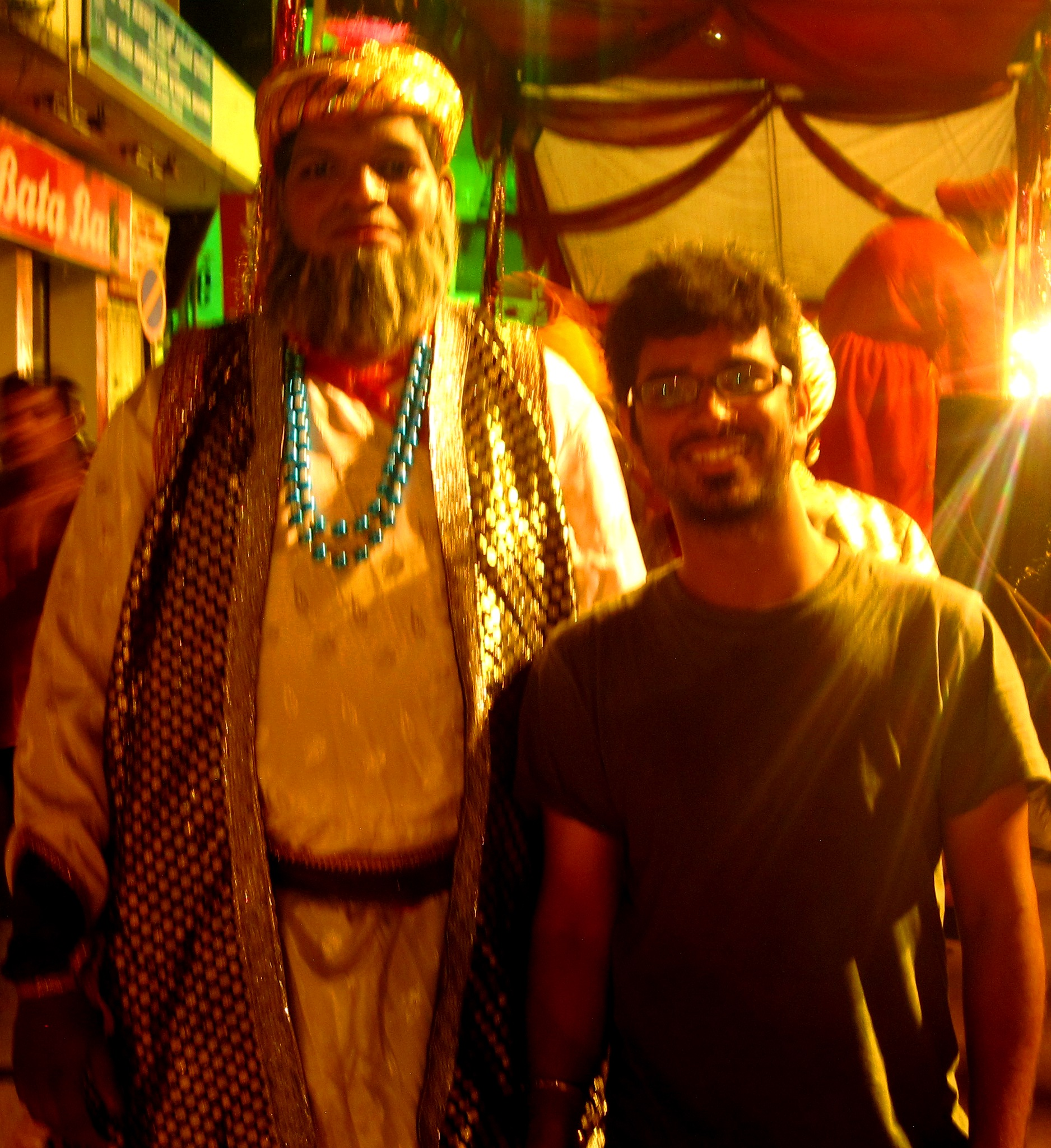 I, with Afzal Khan! (Bijapur General and enemy of Shivaji)